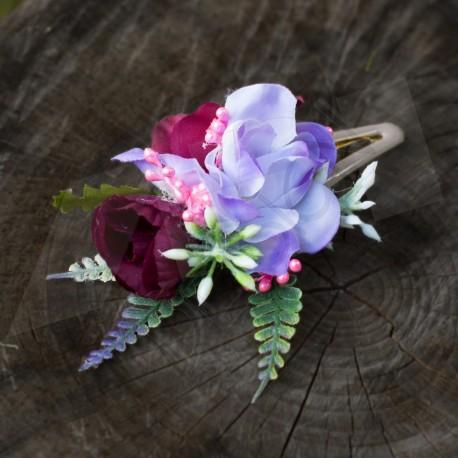 květinová sponka do vlasů  v letních barvách