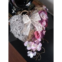 romantické srdce, jarní, romantická dekorace, do interiéru, na dveře